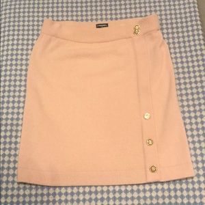 Chanel pale pink cashmere knit skirt